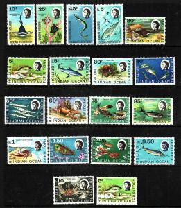 BIOT-Sc#16-33-unused NH set-Marine Fauna-1968-73-please note that 4 of the value