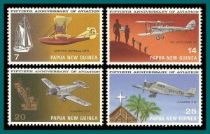 Papua New Guinea 1972 Aviation, MNH 348-351,SG220-SG223