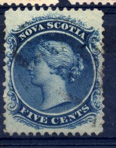 Canada Nova Scotia sg 25 5c Deep Blue, fine used