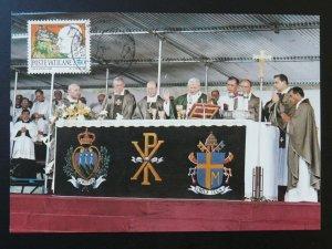 Pope John Paul II in San Marino maximum card Vatican 84942