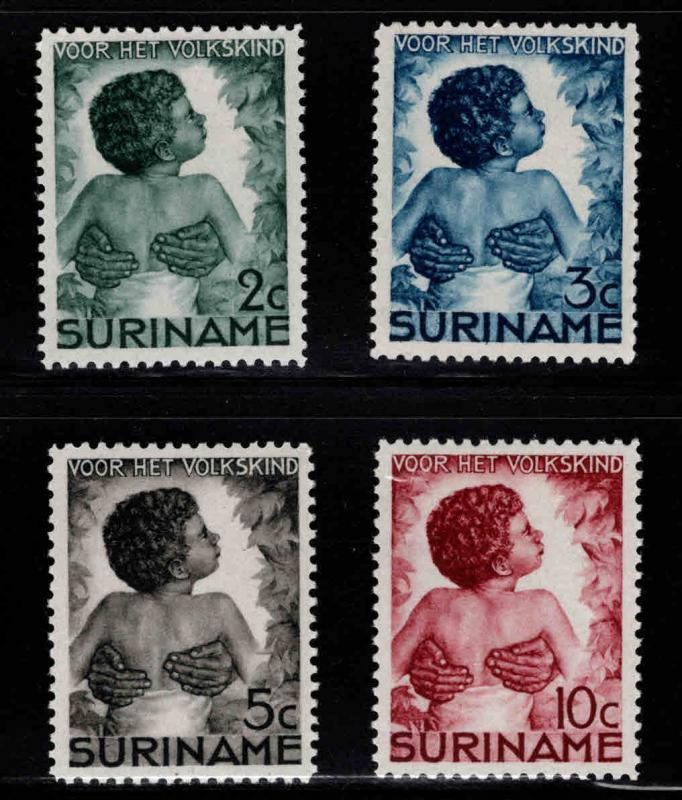 Suriname Scott B22-B25 MH* 1936  stamp set