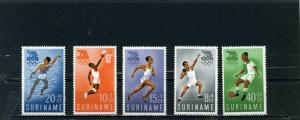 SURINAME 1960 Sc#B75-B79 SUMMER OLYMPIC GAMES ROME SET OF 5 STAMPS MNH