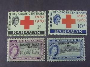 BAHAMAS  # 181-184-MINT/NEVER HINGED---2 COMPLETE SETS----QEII----1963