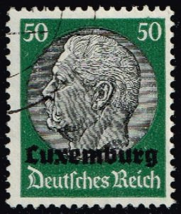 Luxembourg #N13 Hindenburg - German Occupation; Used (3Stars)