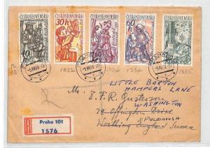 BU109 1961 Czechoslovakia PUPPETS Prague Airmail Cover PTS