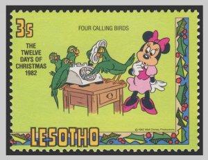 LESOTHO DISNEY STAMP. UNUSED. # 9