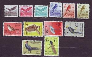 J23715 JLstamps 1964 burma set mlh/mh #176-87 birds