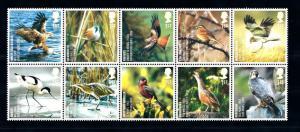 [42276] Great Britain 2007 Birds Vögel Oiseaux Ucelli Block of Ten MNH