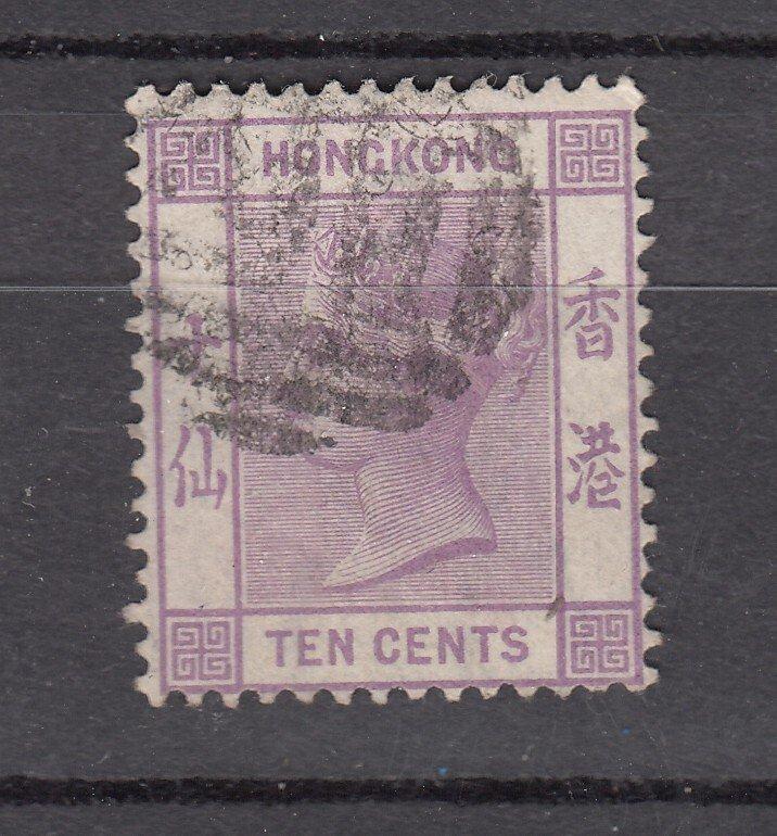 J28255 1863-80 hong kong used #14 queen wmk 1