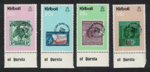 Kiribati Death Centenary of Sir Rowland Hill 4v Bottom Margins SG#100-103