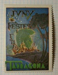 Tarragona Spain Fall Festival 1939 WW Tourism Poster Stamp