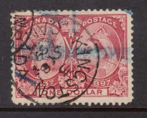 Canada #61 Used With Kingston Ont Sept 8 1899 CDS Cancel