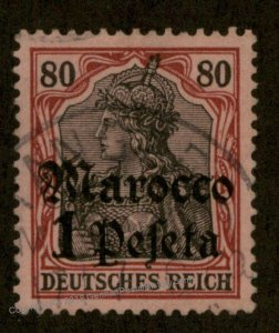 Germany 1905 Offices Morocco TANGER Mi29 80pf Germania Unwmk Used 95890