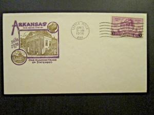 US SC# 777 FDC / Little Rock CDS / Cacheted / Unaddressed - Z4701