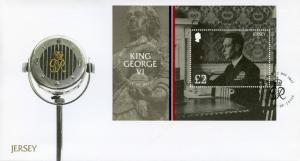 Jersey 2017 FDC King George VI House of Windsor 1v M/S Cover Royalty Stamps