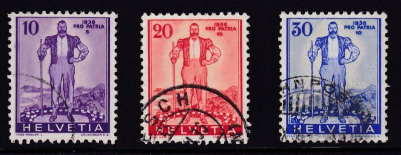 Switzerland 1936  Semi-Postal Alpine Herdsman (3) VF/Used(O)