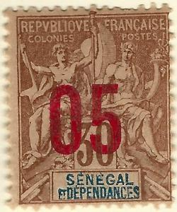 French Senegal (Scott #75) Mint F-VF...A piece of exotic History!