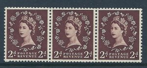 S37L 2d Dark Brown Wilding Edward Crown variety - extra leg to R UNMOUNTED MINT