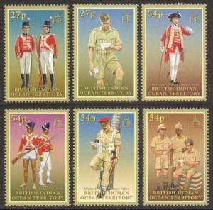 British Indian Ocean Territory Sc# 342-7 MNH Military Uniforms