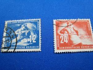 GERMANY  (DDR) -  SCOTT #68-69   Used   (dd)