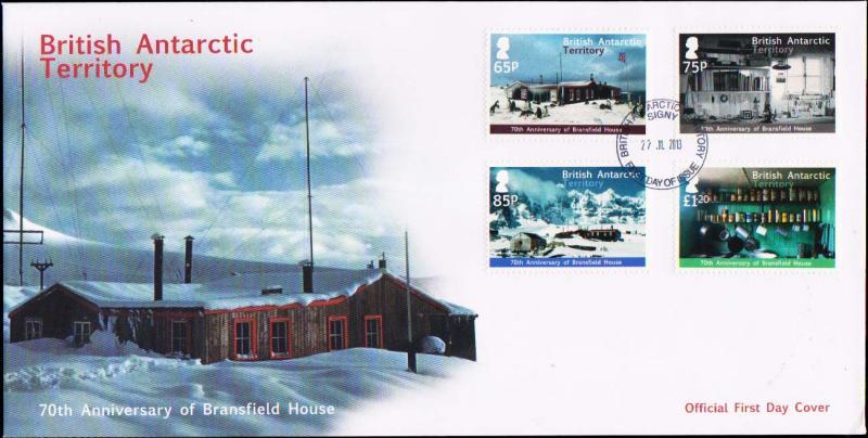 British Antarctic Territory Scott 458-461 Unaddressed.