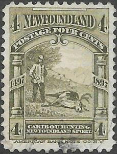 Newfoundland Scott Number 64 VF Used