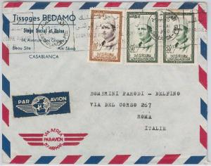 French Colonies: MAROC Morocco -  POSTAL HISTORY - AIRMAIL COVER to ITALY 1960