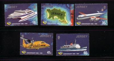 Jersey Sc 685-9 1994 25 yrs Postal Independence stamps NH