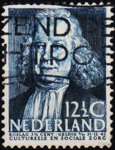 Netherlands. 1938 12 1/2c+3 1/2c S.G.482 Fine Used