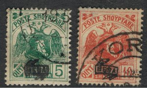 ALBANIA 1921 STAMPS OF 1920 OVERPRINTED BESA