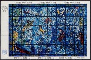 #179 United Nations, NY 1967 Chagall Window MNH