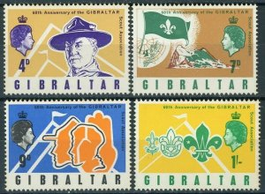 GIBRALTAR SC#209-212 60th Anniversary of Boy Scouts in Gibraltar (1968) MNH