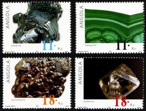 Angola 2001 MINERALS Scott #1205-1208 Mint Never Hinged