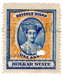(I.B) India (Princely States) Revenue : Holkar State Duty 1a