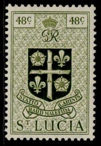 ST. LUCIA GVI SG156, 48c olive-green, M MINT.