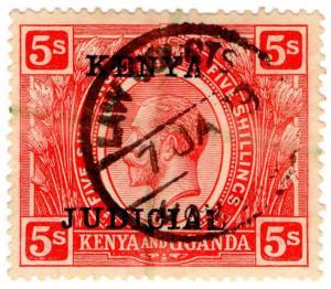 (I.B) KUT Revenue : Kenya Judicial 5/- (1922)