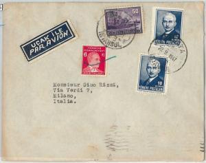 58475  -  TURKEY - POSTAL HISTORY: COVER to ITALY  1947