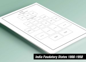 PRINTED INDIA FEUDATORY STATES 1866-1950 STAMP ALBUM PAGES (138 pages)