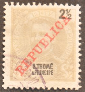 DYNAMITE Stamps: St. Thomas & Prince Islands Scott #91 – USED