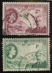 North Rhodesia 55-56 Used F-VF