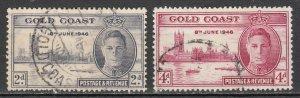 Gold Coast - 193746 Peace Issue Sc# 128/129 - MH (7003) Who likes used!