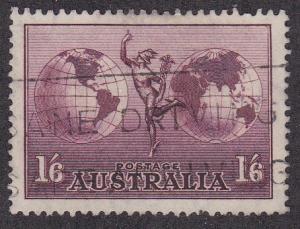 Australia # C5, Mercury & The Hemisphere, Used, 1/2 Cat.