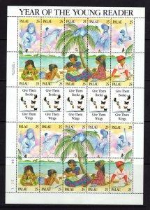 Palau  #220 (1989 Young Readers Literacy sheet) VFMNH CV $15..00