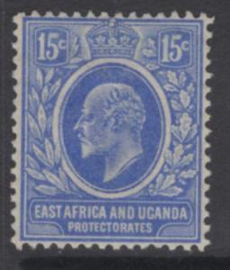 KENYA, UGANDA & TANGANYIKA SG39 1907 15c BRIGHT BLUE HEAVY MTD MINT