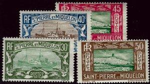 St. Pierre & Miquelon SC#144-147 Mint Fine....Bid a Bargain!