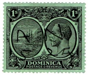 (I.B) Dominica Revenue : Duty Stamp 1/-
