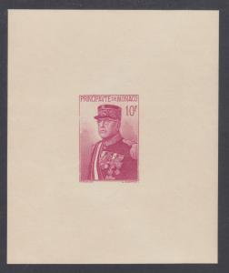 Monaco Sc 159 MNH. 1938 10fr Prince Louis II imperf Souvenir Sheet, small dull