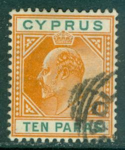 CYPRUS : 1906. Stanley Gibbons #61c Broken Triangle upper left. Very Fine, Used.