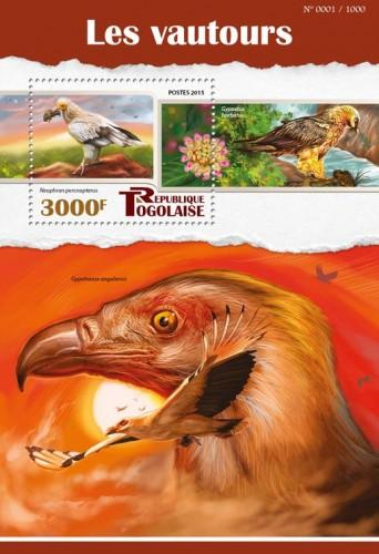 Togo MNH S/S Vultures 2015
