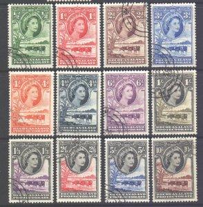 Bechuanaland Scott 154/165 - SG143/153, 1955 Elizabeth II Set used